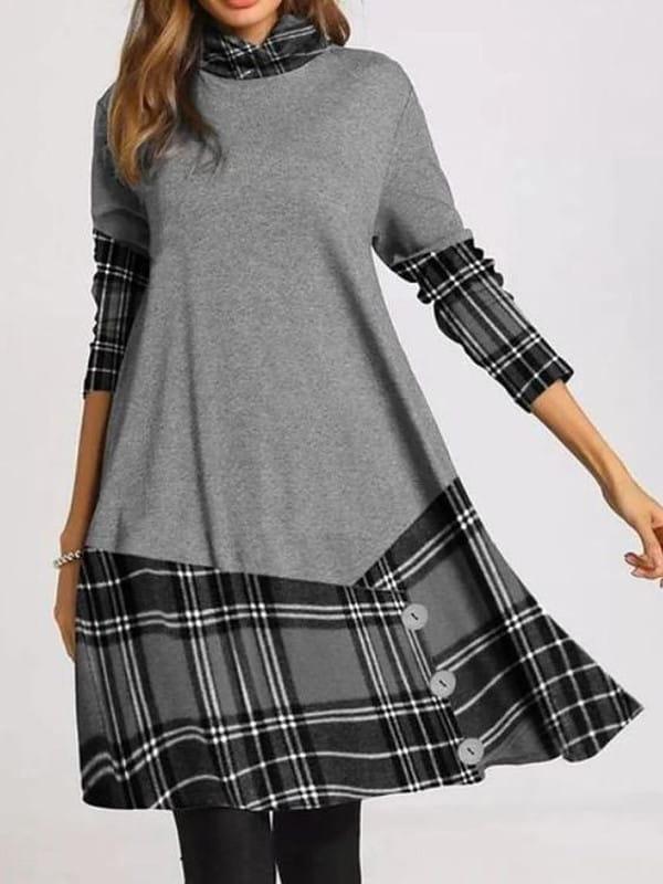 Patchwork: uma tendência sustentável: modelo vestindo um vestido trabalhado em patchwork.